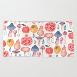 Fruits of the Woods Beach Towel