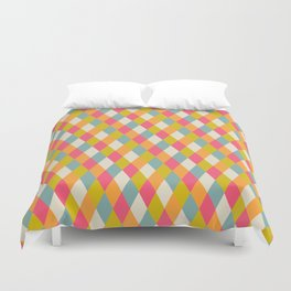 abstract seamless repeat pattern with rhombs Duvet Cover