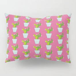 Blooming Cactus on Mulberry Pink Pillow Sham