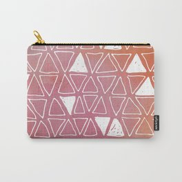 Tribal Watercolours - in Sunset Pink/Orange Carry-All Pouch