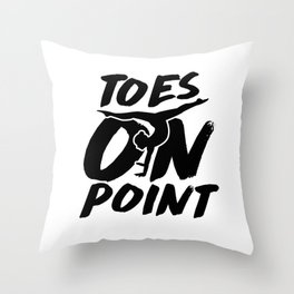 Cute Gymnast Toes On Point Leotard White Throw Pillow