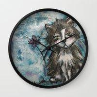 marley Wall Clocks featuring Marley by Allison Weeks Thomas