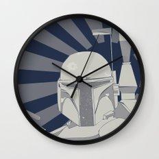 Fett is Coming Wall Clock
