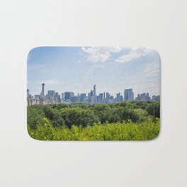 Roof Garden | New York City Skyscraper Buildings Skyline Photography Bath Mat