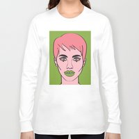 mod Long Sleeve T-shirts featuring Mod by Grace Teaney Art