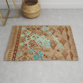 Simple And Powerful Samoan Malu Print Rug