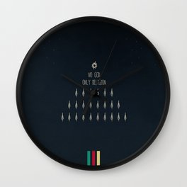 10. No God Only Religion Wall Clock