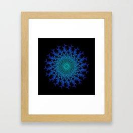 Ombre Tribal Hammerhead Mandala Framed Art Print