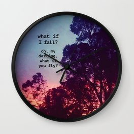 What If I Fall? Wall Clock