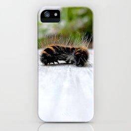 Wannabe Tiger (Fox Moth Caterpillar) iPhone Case