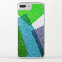 Composition Teal, Green and Violet Clear iPhone Case