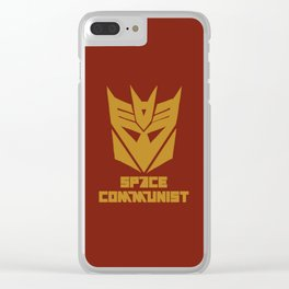 Space Communist Clear iPhone Case