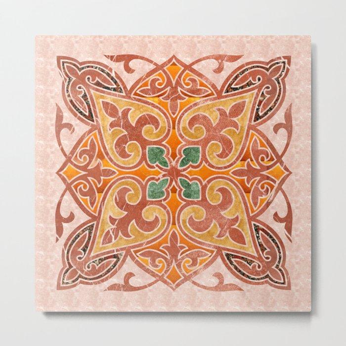 Brown Mandala 02 Metal Print