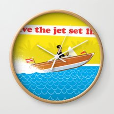 Live The Jet Set Life! Wall Clock