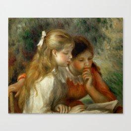 "Auguste Renoir ""The Reading"" Canvas Print"