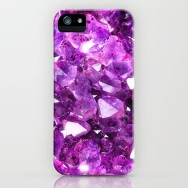 Purple Amethyst Crystal iPhone Case