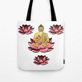 Buddha & Lotus Tote Bag