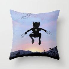 Wolverine Kid Throw Pillow
