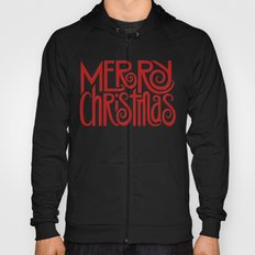 Merry Christmas Text red Hoody
