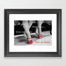 The right Shoes Framed Art Print