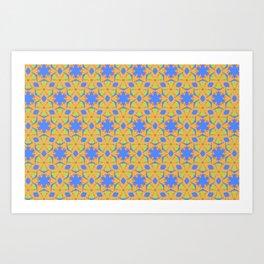 Geometric Name Pattern Art Print