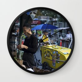 JUXTAPOSED CULTURES print Wall Clock