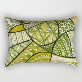 Doodly Do in green Rectangular Pillow