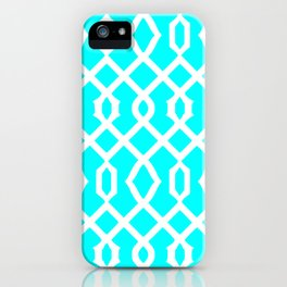 Grille No. 3 -- Cyan iPhone Case