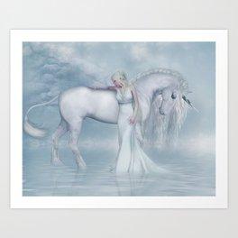 Unicorn dreamer Art Print
