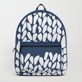 Half Knit Navy Backpack