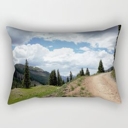 The Road of Life: Venture to Learn What's Around the Next Bend, and Prepare for Stormy Skies Rectangular Pillow