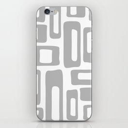 Retro Mid Century Modern Abstract Pattern 336 Gray iPhone Skin