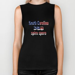 South Carolina Dum spiro spero Biker Tank