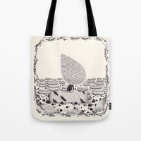 sad Tote Bags featuring sad by yohan sacre