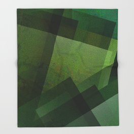 Charming Chartreuse Green - Digital Geometric Texture Throw Blanket