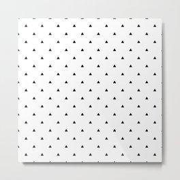 Elegant black white geometric pattern | triangles Metal Print
