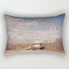 Pelican Halo at the Beach Rectangular Pillow