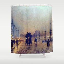 Glasgow, twilight by John Atkinson Grimshaw Shower Curtain