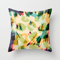 wildlife Throw Pillows featuring Wildlife by Lynsey Ledray