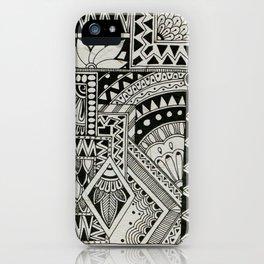 Retro Flower Doodle iPhone Case