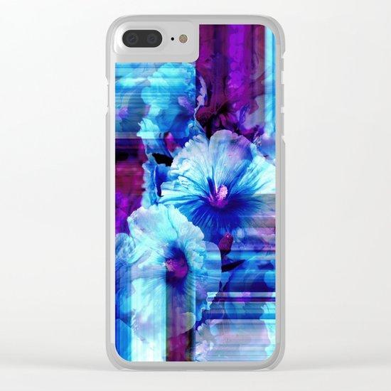 Petals In Blue Clear iPhone Case