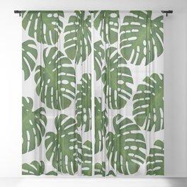 Monstera Leaf II Sheer Curtain