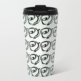 Rows of Flowers, Mint Green Travel Mug
