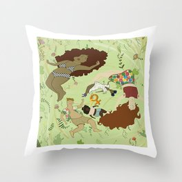 Modern Women Throw Pillow