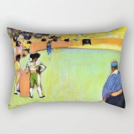 Pablo Picasso - Bullfight, Barcelona - Digital Remastered Edition Rectangular Pillow