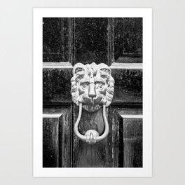 The black door Art Print