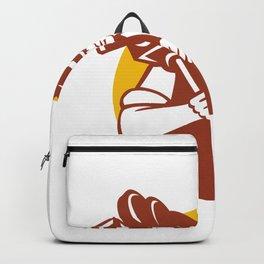 Cowboy Camera Operator Mascot Backpack