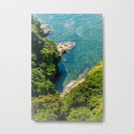 Enoshima Shores Metal Print