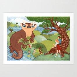King of Newts Art Print