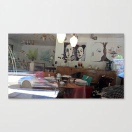 Window Shopping in La Clusaz Canvas Print